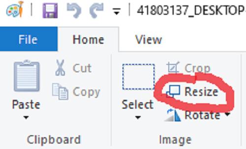 Công cụ chỉnh kích thước ảnh trong Paint Windows 11