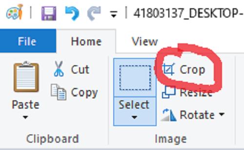 Công cụ Crop để cắt ảnh theo vùng đã chọn