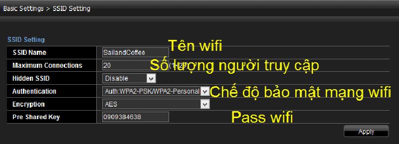 Đổi mật khẩu wifi Viettel