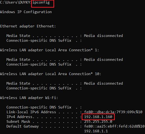 Xem địa chỉ IP trên máy tính Windows 11