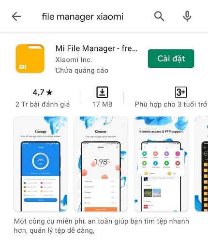 Tải Mi File Manager về điện thoại