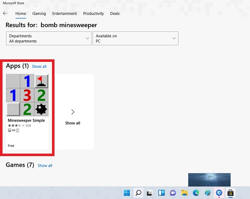 ứng dụng Minesweeper Simple