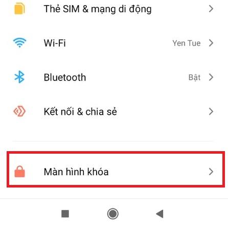 Cài đặt Màn hình khóa trong điện thoại xiaomi redmi note 10 pro max