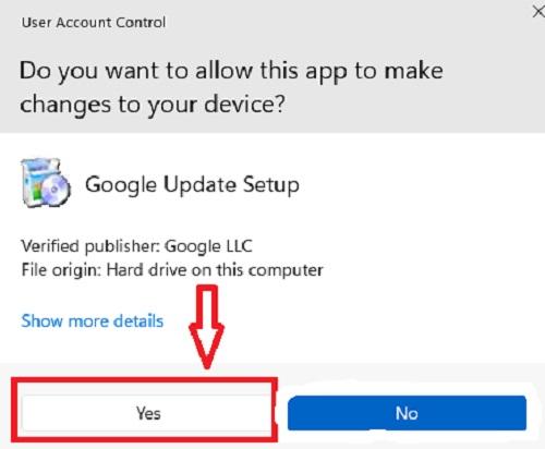 Cho phép ứng dụng Chrome thay đổi thiết bị