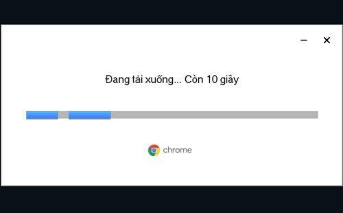 Hoàn tất quá trình cài đặt Chrome