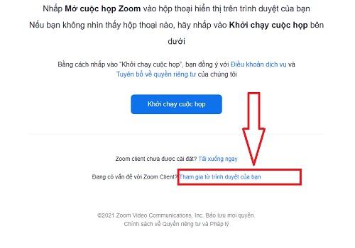 Học zoom ngay trên trình duyệt web
