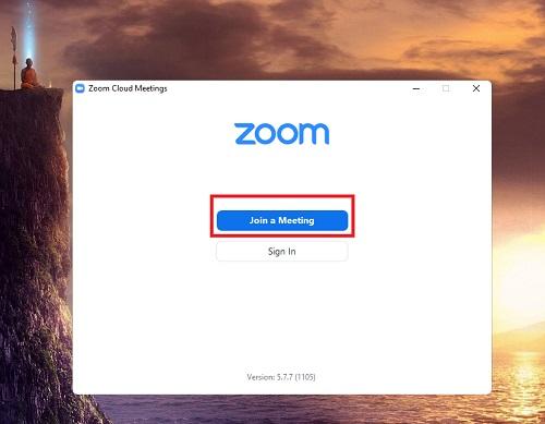 mở phần mềm zoom lên