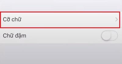 Cài đặt cỡ chữ điện thoại iphone IOS 15