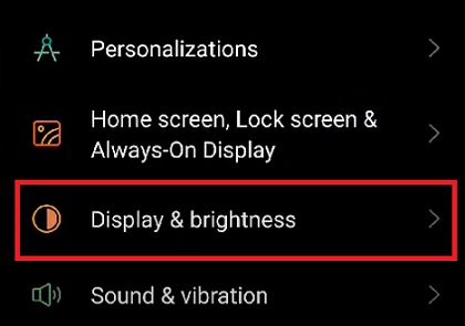 Cài đặt màn hình và độ sáng Oppo, Realme