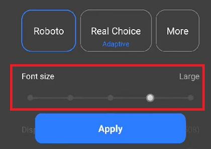 Cỡ chữ trên điện thoại Oppo và Realme Color OS