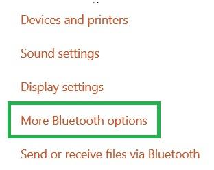 More Bluetooth Options