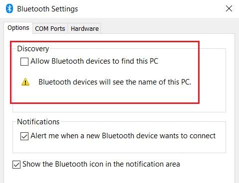 Sửa lỗi không dò thấy bluetooth