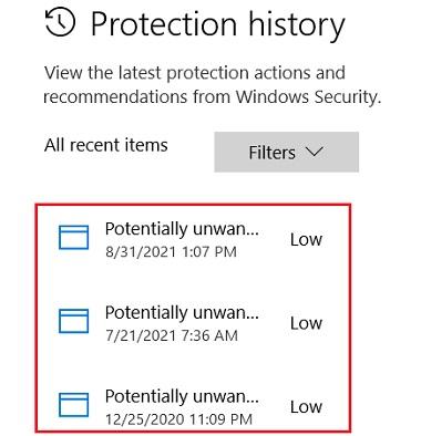 Lịch sử diệt virus Windows defender