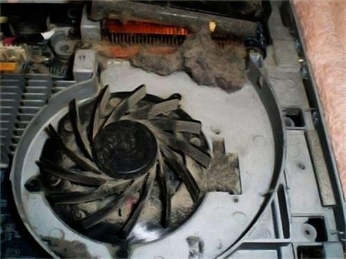 Quạt tản nhiệt máy tính lâu này bụi bẩn