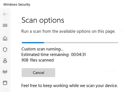 Scan options win 11