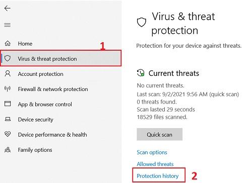 Windows & Threat protection trên windows 11