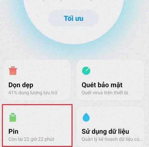 tối ưu pin điện thoại Xiaomi
